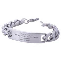 Personalized Engraved Jewelry Personalized Men Stainless Steel Id Bracelet Engraved Medical Id Alert Bangle Jewelry In Id