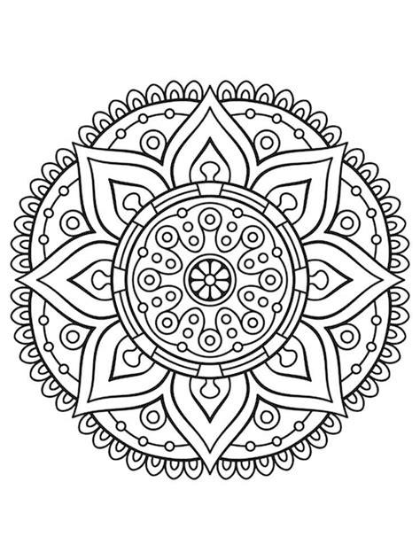 chakra mandala coloring pages free printable abstract