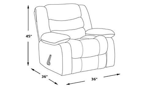 reclining chair dimensions gatlinburg ii silt lift chair recliner recliners brown