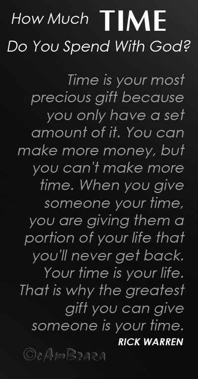 How Much Time Do You Spend With God? - cambraza