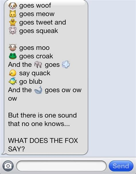 what does sog quot what does the fox say quot song lyrics made with emojies