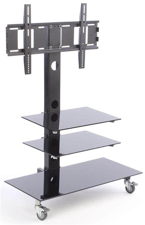 tripod floor l with shelves monitor floor stand with shelf gurus floor