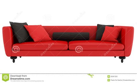 red and black couch red and black sofa stock photos image 25267253