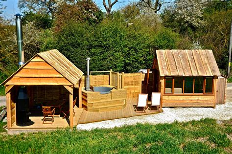 tiny house deck tinywood homes extend living space with gazebos and hot tubs