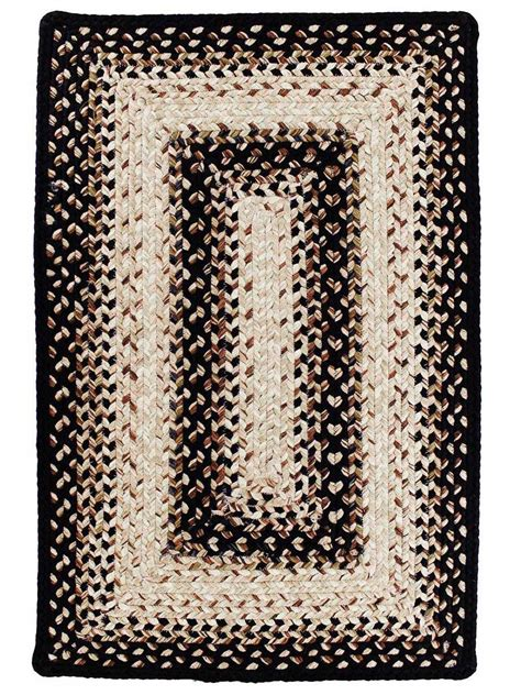 black indoor outdoor rug black mist braided indoor outdoor rug cottage home 174