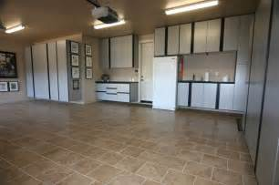 garage and shed applied tile floor also white storage cabinets plastic tiles home design ideas
