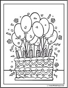 happy birthday coloring page pdf 9 best birthday coloring pages images on pinterest