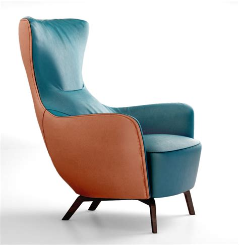 poltrona 3d poltrona frau italy mamy blue armchair 3d model max obj