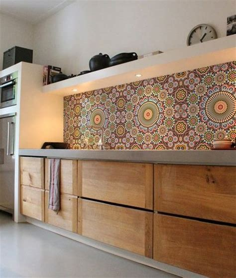 Wallpaper For Backsplash In Kitchen by Kitchen D 233 Cor On A Budget Kitchen