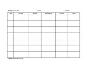 Free Printable Blank Lesson Plan Template by Blank Printable Lesson Plans Form Best Agenda Templates