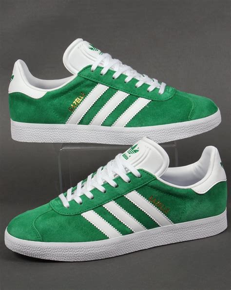 adidas gazelle trainers greenwhiteoriginalsshoesmens