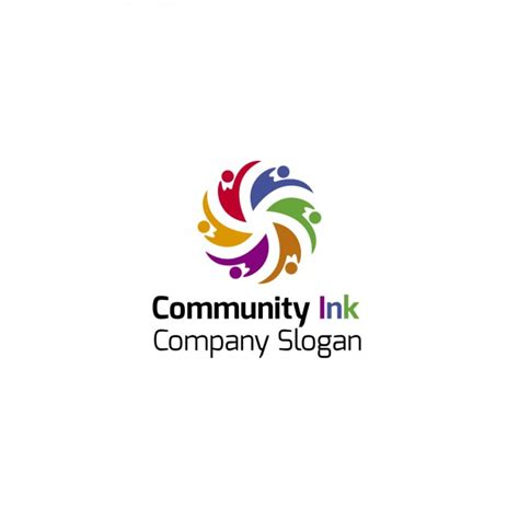 colorful community logo template vector free download