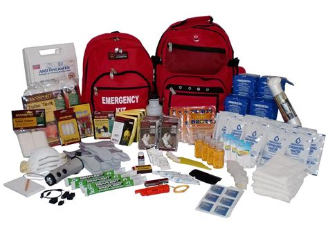 earthquake kit emergency survival double backpack kit 4 person