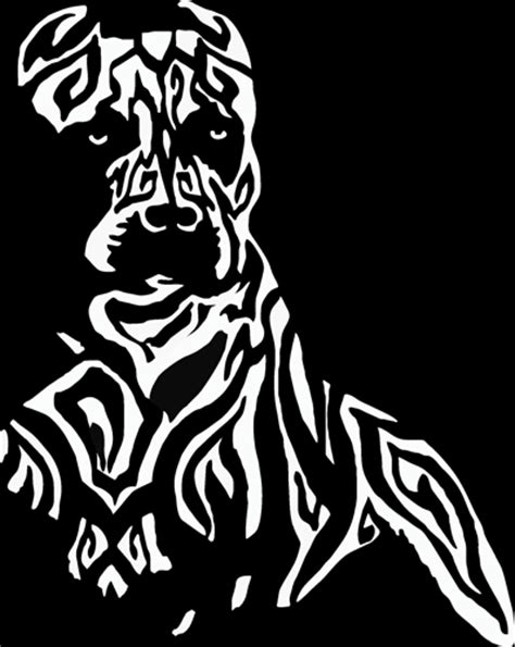 Tribal Sticker Design Decals by Tribal Pitbull Design Sticker Decal For Your Car Boat