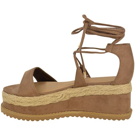 wedge flat shoes womens flat espadrille lace up sandals wedge