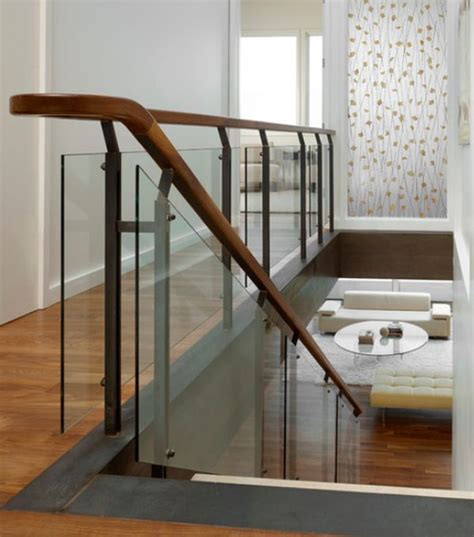 banister handrail designs glass stairs railing google search glass and steel