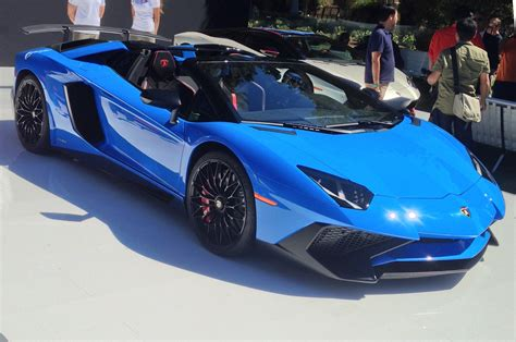 lamborghini aventador sv roadster lamborghini aventador lp750 4 sv roadster loses its top at pebble
