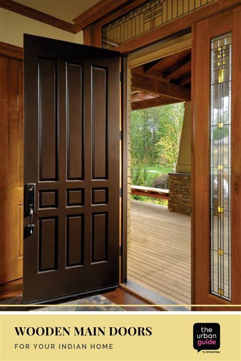wooden main door design  solid ideas   indian home