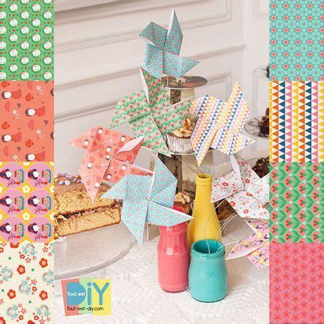 Deco De Printemps A Faire Soi Meme 550 by Moulin 224 Vent En Origami Papier Origami Madame Mo Tout