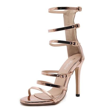 high heel sandals gold gold strappy high heel gladiator sandals