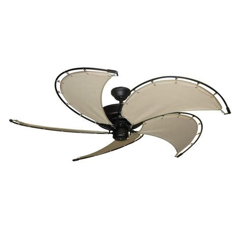 nautical ceiling fans gulf coast nautical raindance ceiling fan matte black