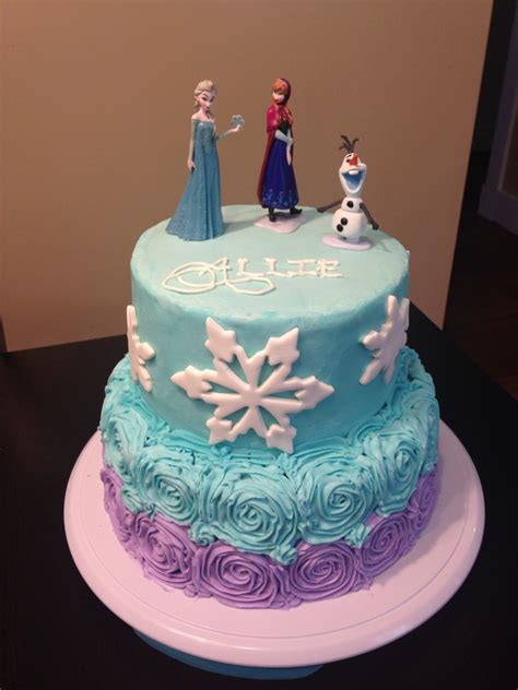 Freezer Cake frozen cake with buttercream icing elsa and olaf figurines cakes i ve made