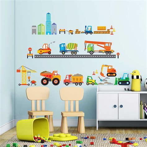 Kinderzimmer Gestalten Bagger by Wandsticker Baustelle Baufahrzeuge Wandsticker Kinderzimmer