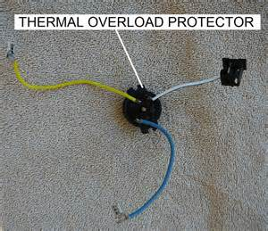 how to replace the thermal overload protector on an ao