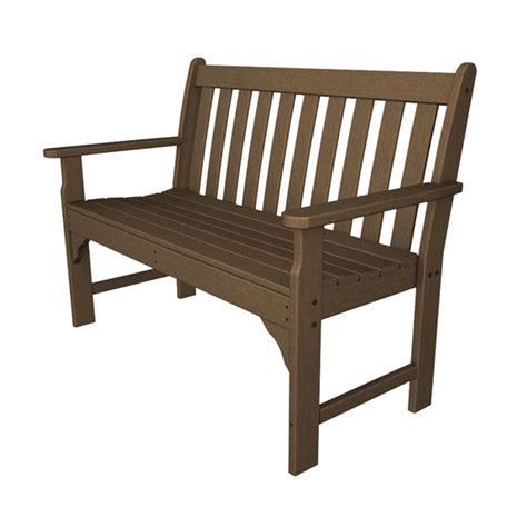 polywood benches outdoor polywood 174 vineyard 48 inch garden bench gnb48