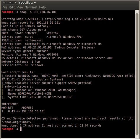 nmap tutorial mac exploit windows xp sp3 using metasploit msfconsole