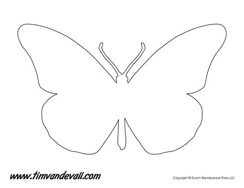 monarch butterfly template printable monarch butterfly stencil tim s printables