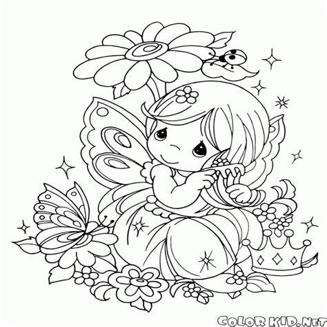 imagenes de unicornios y hadas para colorear dibujo para colorear duendes y hadas dibujosparacolorear