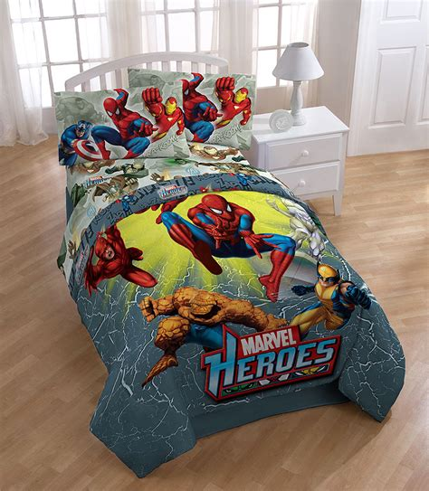 4pc new marvel heroes full bed sheet set iron man thor
