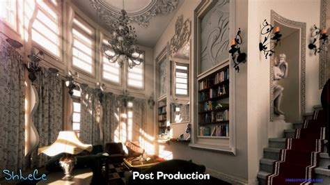 Show Home Interior Design old style photo rendering utilizing 3ds max vray