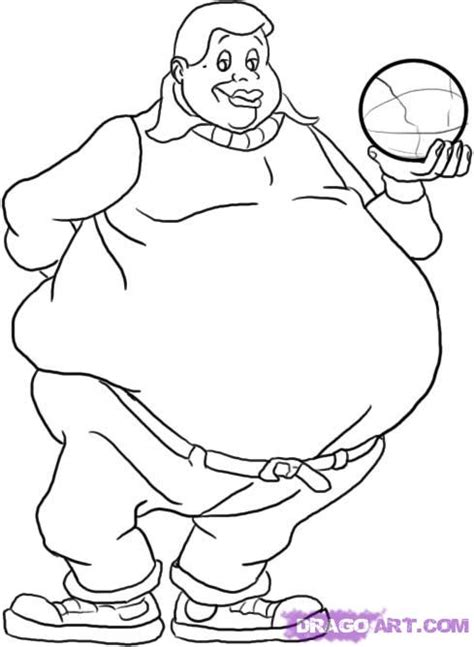 how to draw fat albert step by step cartoons cartoons