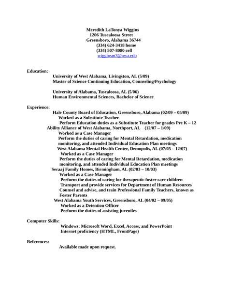 sle resumes for juvenile probation officers sle juvenile detention officer resume