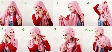 video tutorial berhijab simpel tutorial hijab gaya berhijab pinterest hijabs and