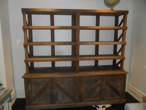 reclaimed wood pine hutch bookcase usa made