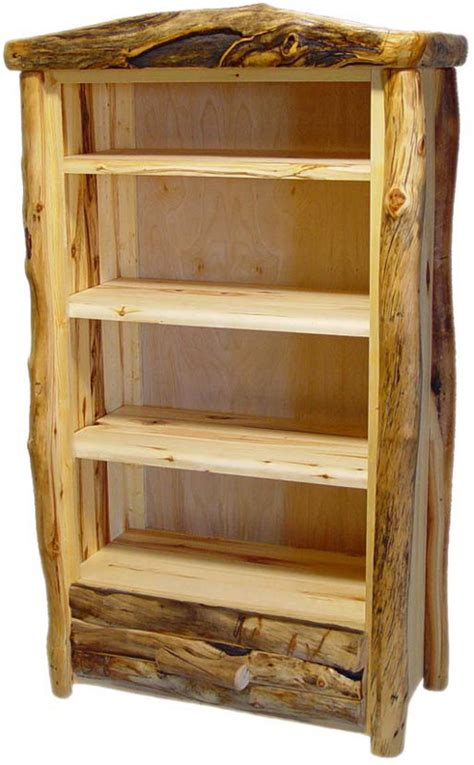 rustic bookshelf plans woodideas