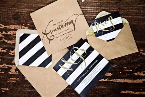 black white and gold wedding invitations it
