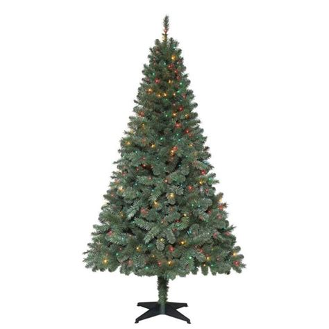 holiday living 12 ft christmas tree 6 5 ft verde spruce artificial tree with 400 multi color lights trees