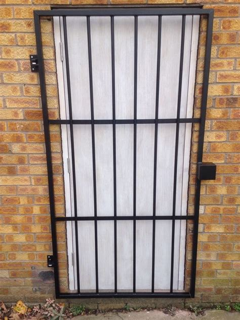 safety doors metal safety doors security doors grill steel security door gate grill powder coated black 163