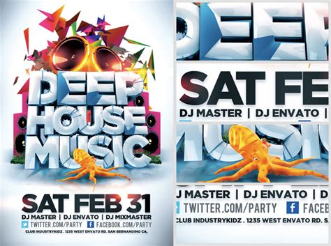house music flyers deep house music flyer template flyerheroes