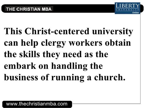 Mba Church Management by Mbas For Clergy Workers