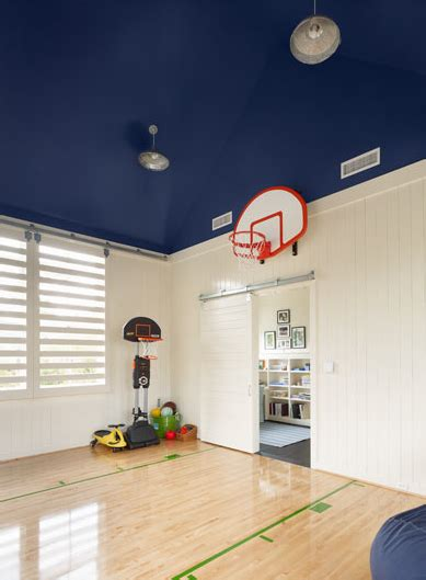 basketball hoop for room attice basketball court transitional boy s room dillon kyle architecture