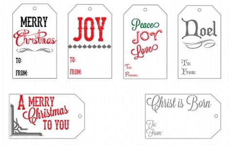 10 Pinterest Free Christmas Gift Tag Printable Printout Variety Templates Tweeting Social Merry Tags Template