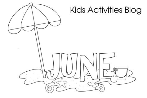 color for june june coloring pages for
