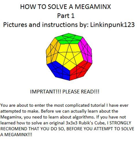 tutorial rubik megaminx how to solve a megaminx cover by linkinpunk123 on deviantart