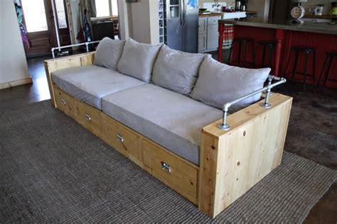 modern wood storage sofa ana white
