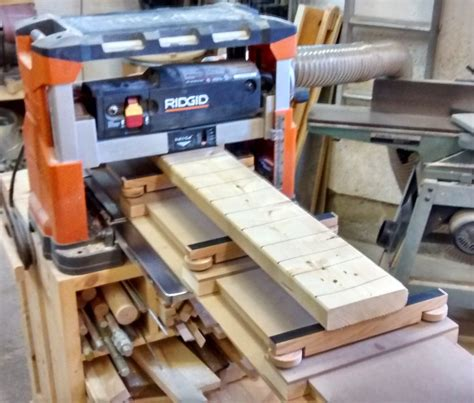 Planer Jig For Flattening Twisted Boards By